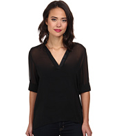 Christin Michaels - Sophie Blouse with Roll Sleeves