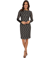 Vince Camuto - Body Con Ponte Dress w/ Long Sleeves