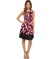 Vince Camuto - Sleeveless Printed Fit & Flare Dress w/ Released Pleats