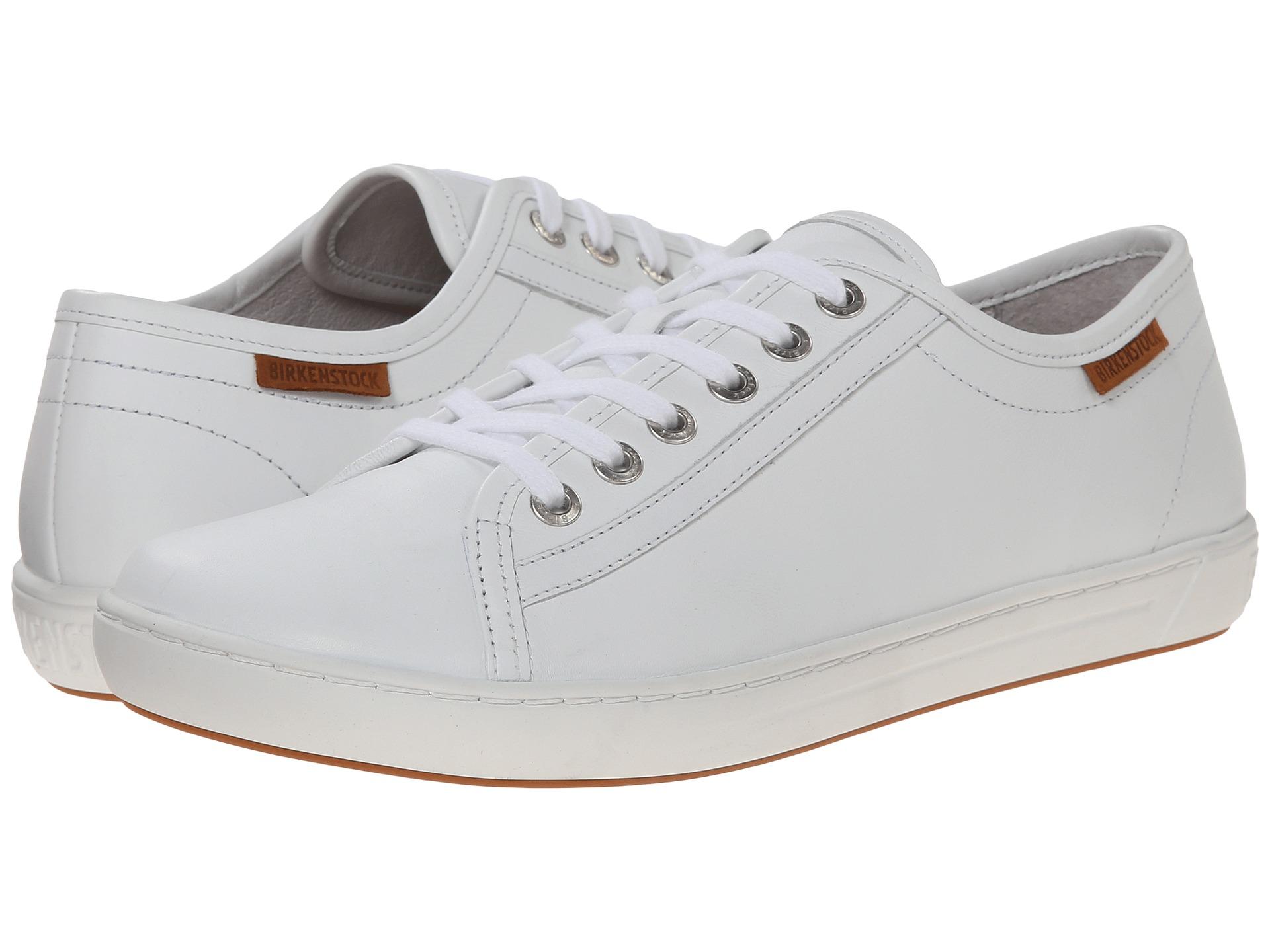 birkenstock arran s white leather zappos
