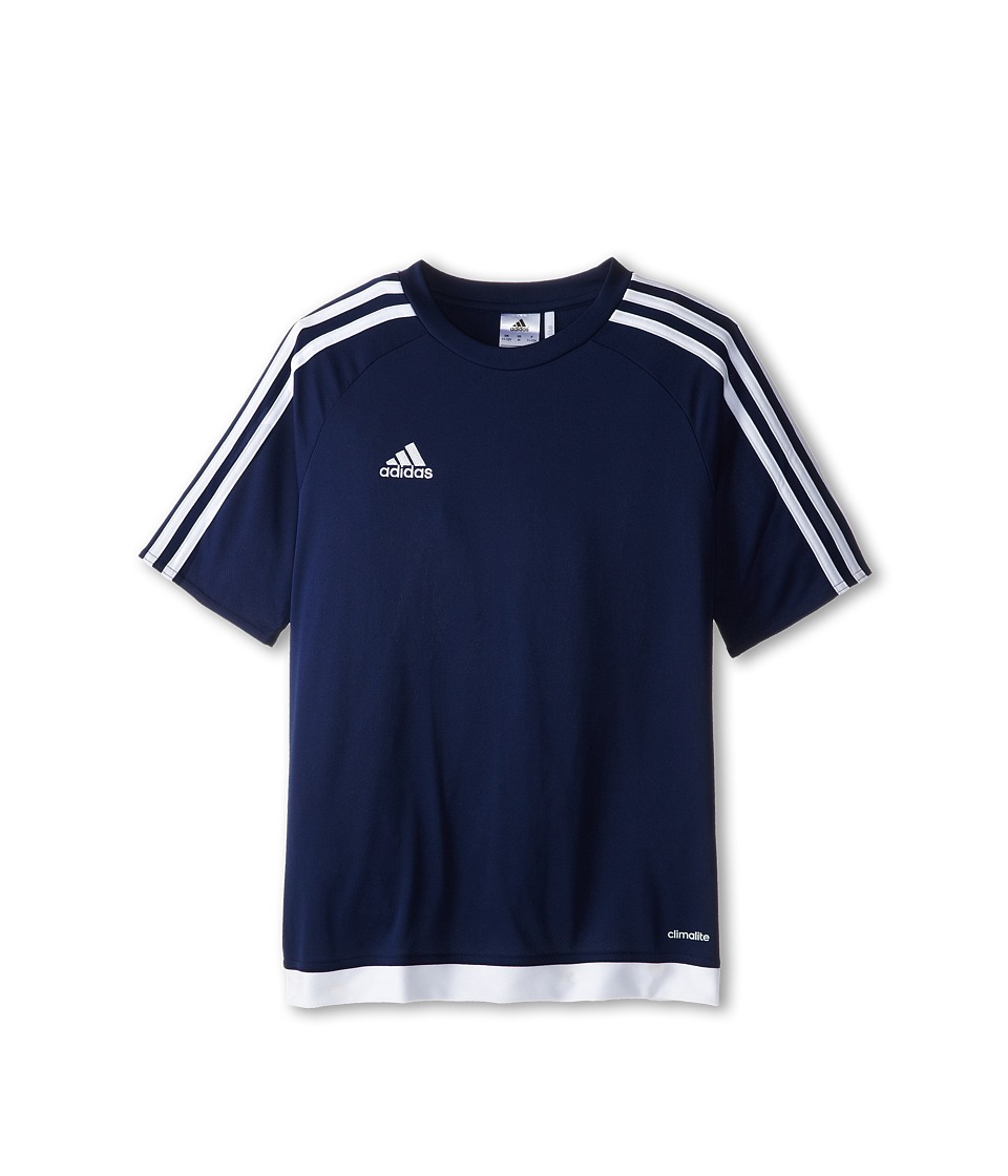adidas Kids - Estro 15 Jersey (Little Kids/Big Kids) (Dark Blue/White) Kids T Shirt