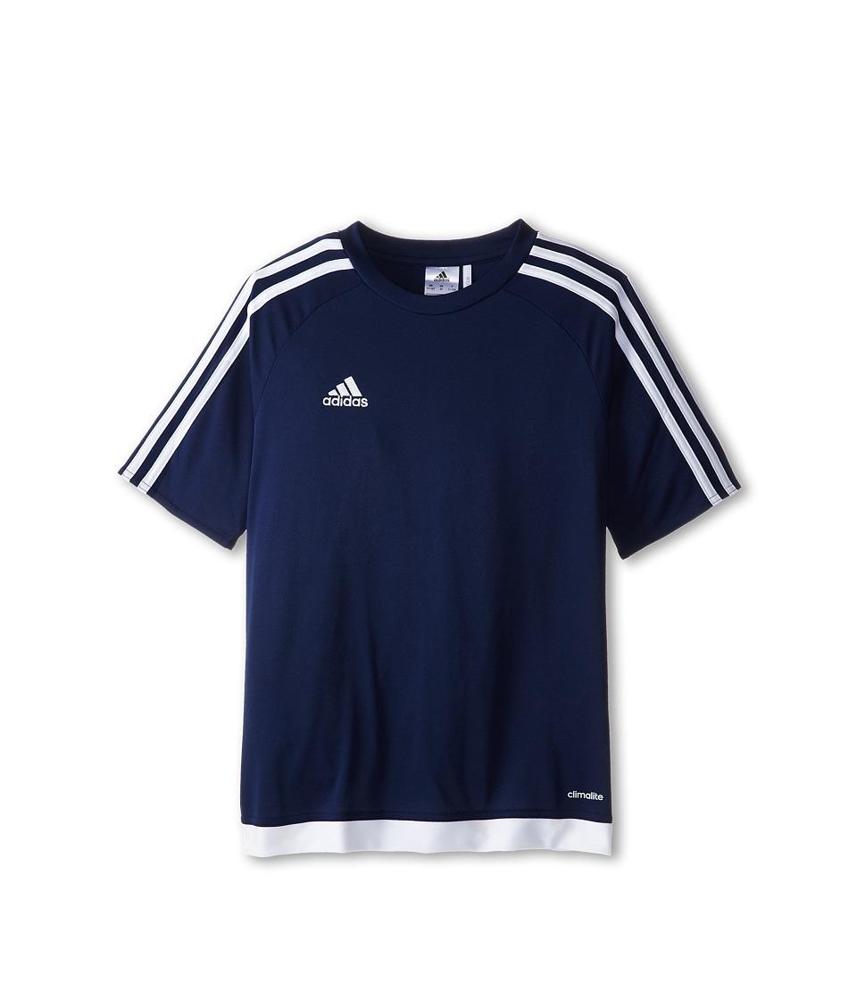 adidas Kids Estro 15 Jersey (Little Kids/Big Kids) (Dark Blue/White) Kid