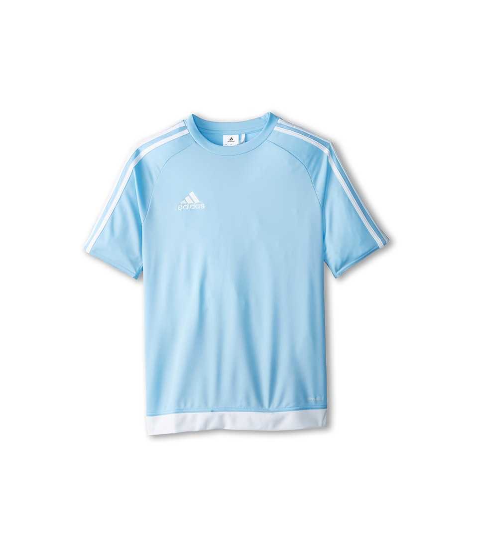adidas Kids Estro 15 Jersey (Little Kids/Big Kids) (Clear Blue/White) Kid