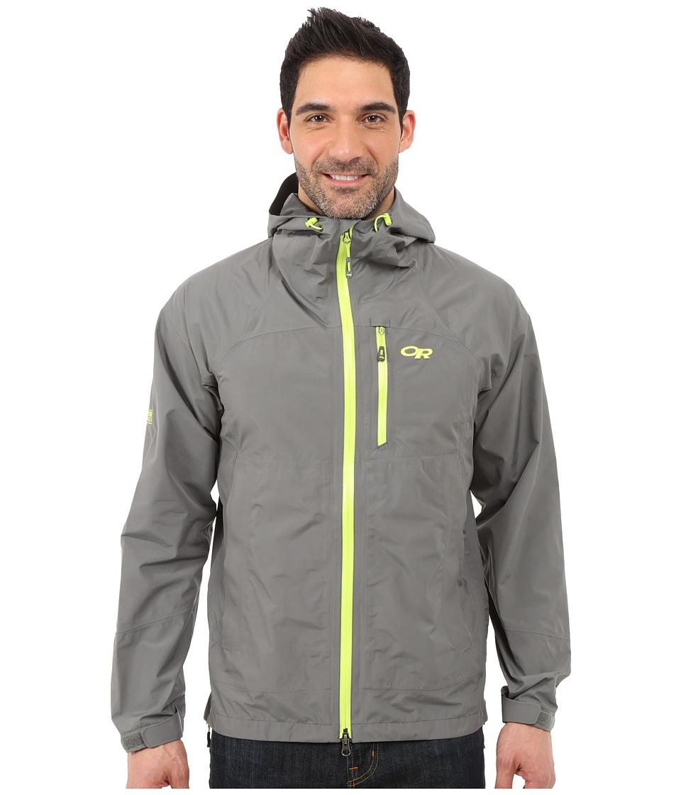 Outdoor Research Foraytm Jacket (Pewter/Lemongrass) Men's...