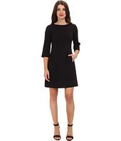 Eliza J  Three-Quarter Sleeve Shift Dress w/ Front Pockets  image