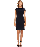 Eliza J  Beaded Cap Sleeve Surplus Side Ruched Sheath Dress  image