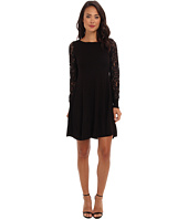 Eliza J  Long Sleeve Fit & Flare w/ Lace Sleeves  image