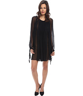 Vera Wang - Chiffon Long Sleeve Pleasant Dress
