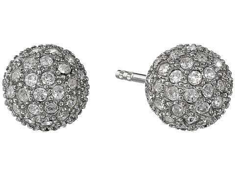 Fossil Pave Ball Studs Earrings - Silver