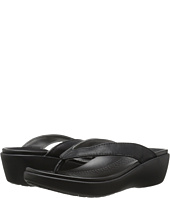 Crocs - Capri Leather Wedge Flip