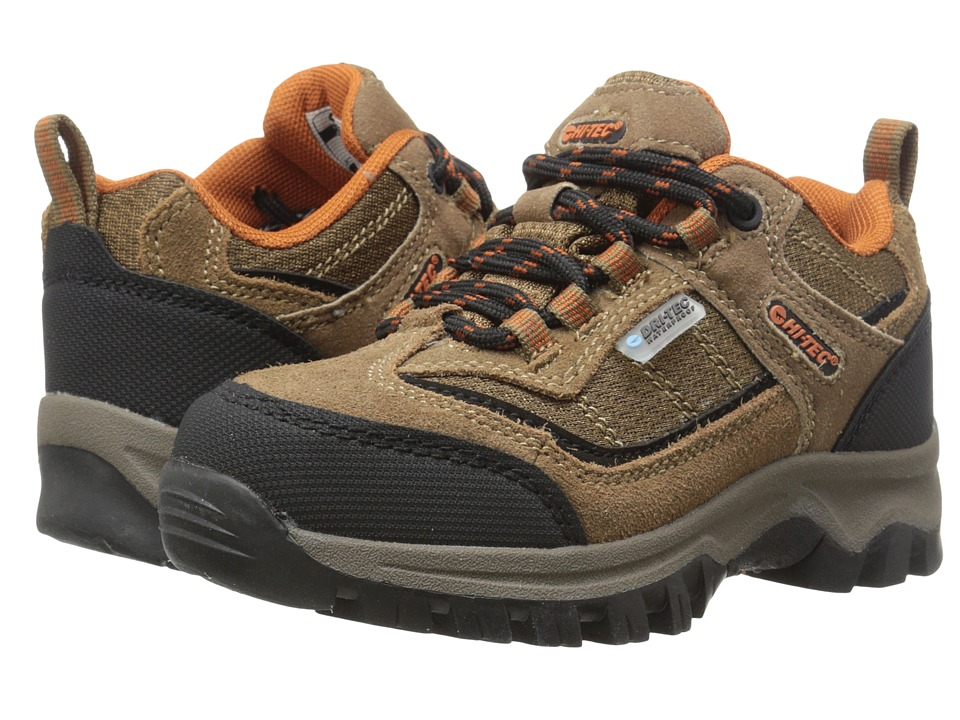 Hi-Tec Kids Hillside Waterproof Low Jr (Toddler/Little Kid/Big Kid) (Brown/Orange) Boy's Shoes