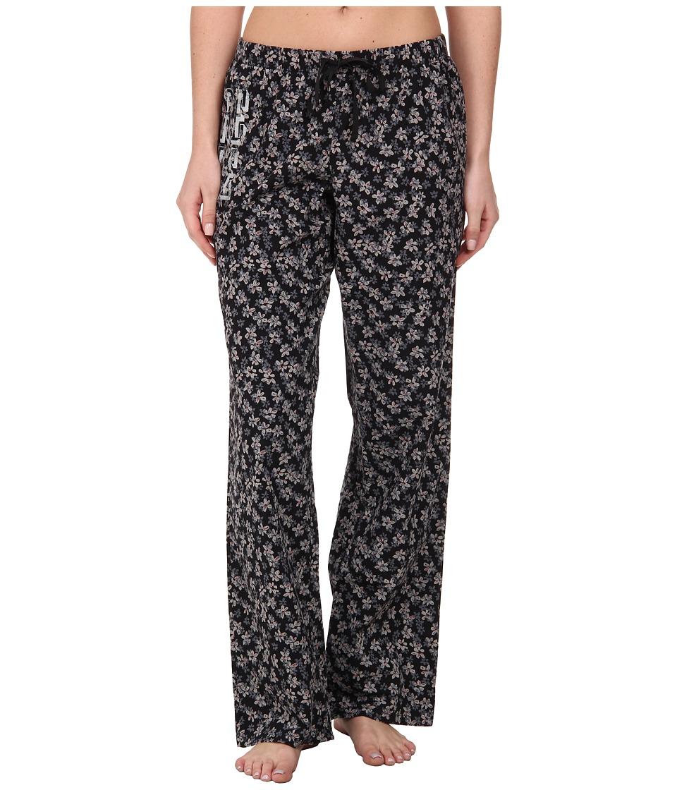 Life is good Sleep Pants Night Black Floral Womens Pajama