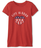 Life is good Kids - USA Heart Easy Tee (Little Kids/Big Kids)