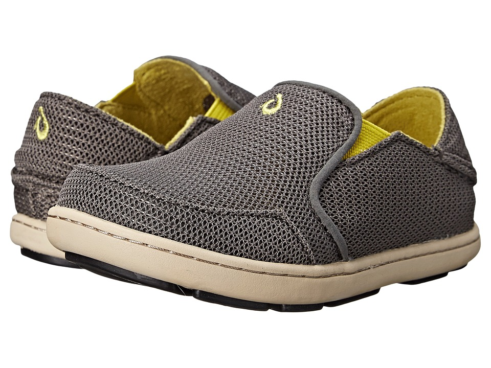 OluKai Kids Nohea Mesh Toddler/Little Kid/Big Kid Charcoal/Sulfur Boys Shoes