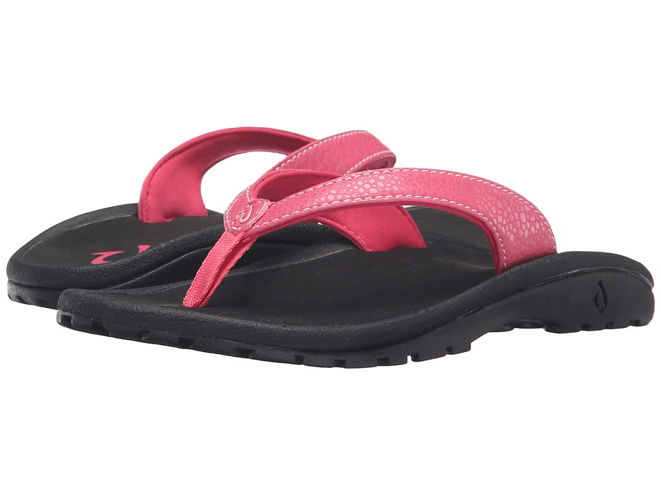 OluKai Kids Kulapa Kai Toddler/Little Kid/Big Kid Bikini Pink/Black Girls Shoes
