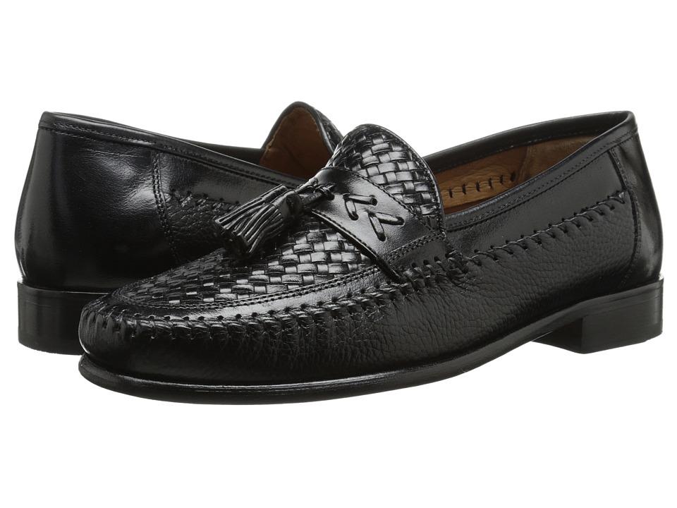 Florsheim - Swivel Weave Black Mens Slip-on Dress Shoes $150.00 AT vintagedancer.com