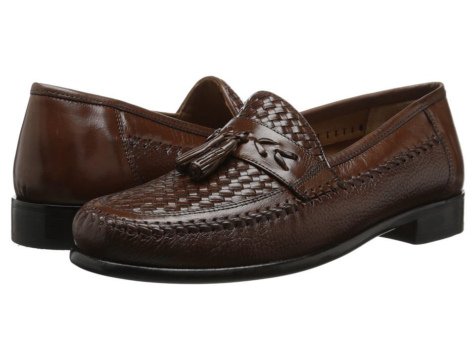 Florsheim - Swivel Weave Cognac Mens Slip-on Dress Shoes $150.00 AT vintagedancer.com