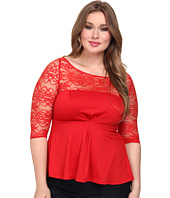 Kiyonna - Illusion Ponte Peplum Top