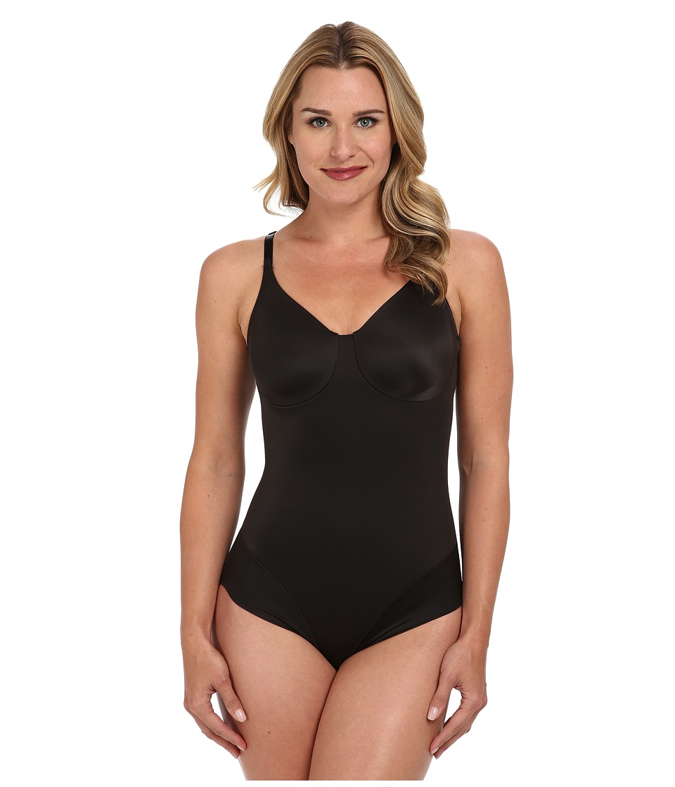 Miraclesuit Shapewear - Extra Firm Comfort Leg Smooth Molded Cup Bodybriefer (Black) Women's Bra