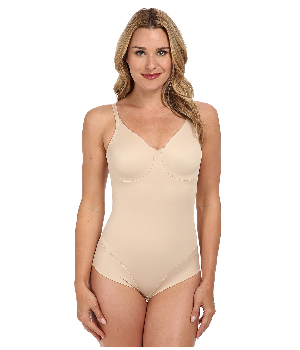 Miraclesuit Shapewear Extra Firm Comfort Leg Smooth Molded Cup Bodybriefer Nude Womens Bra
