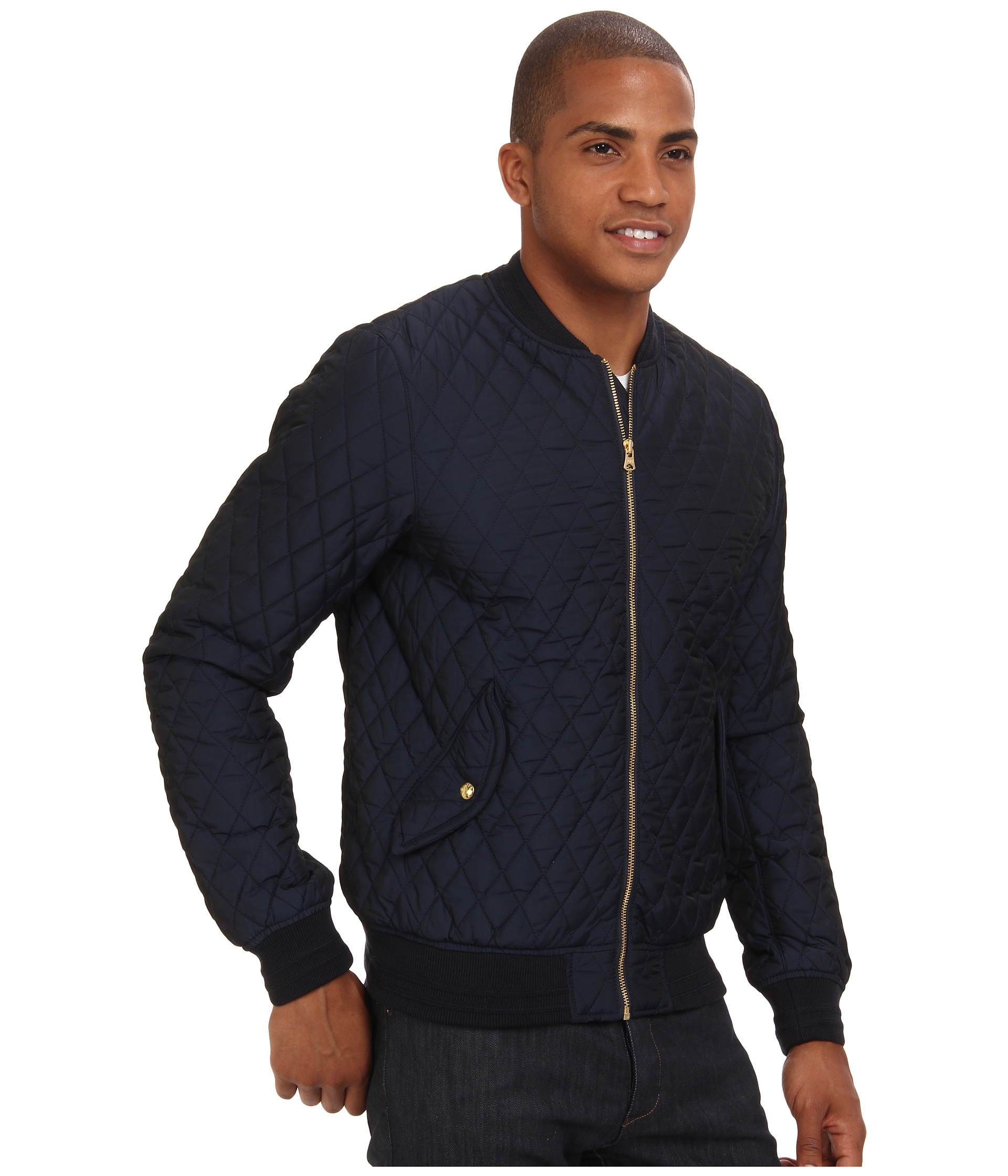 scotch soda quilted nylon bomber jacket shipped free at. Black Bedroom Furniture Sets. Home Design Ideas