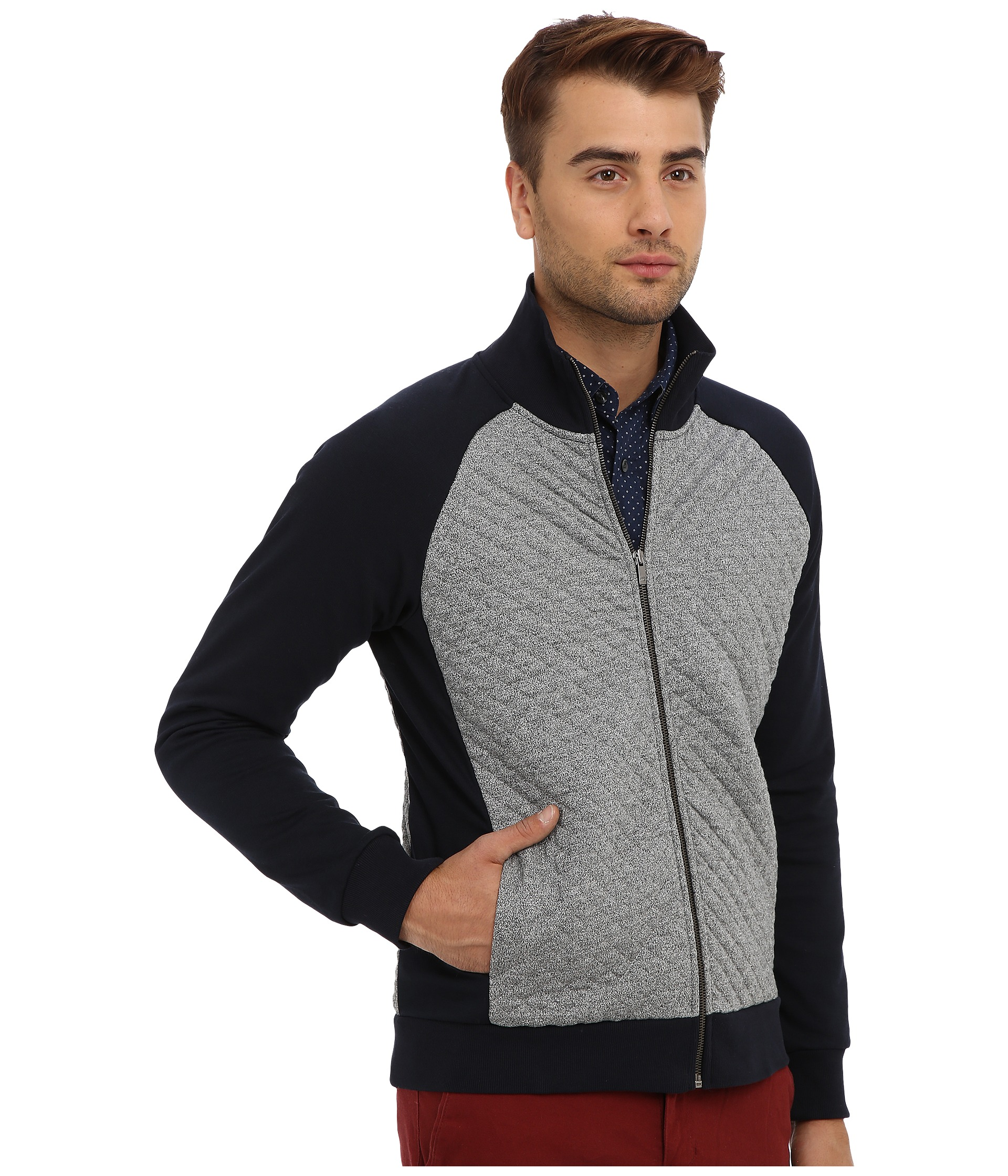 scotch soda quilted track jacket clothing shipped free at zappos. Black Bedroom Furniture Sets. Home Design Ideas