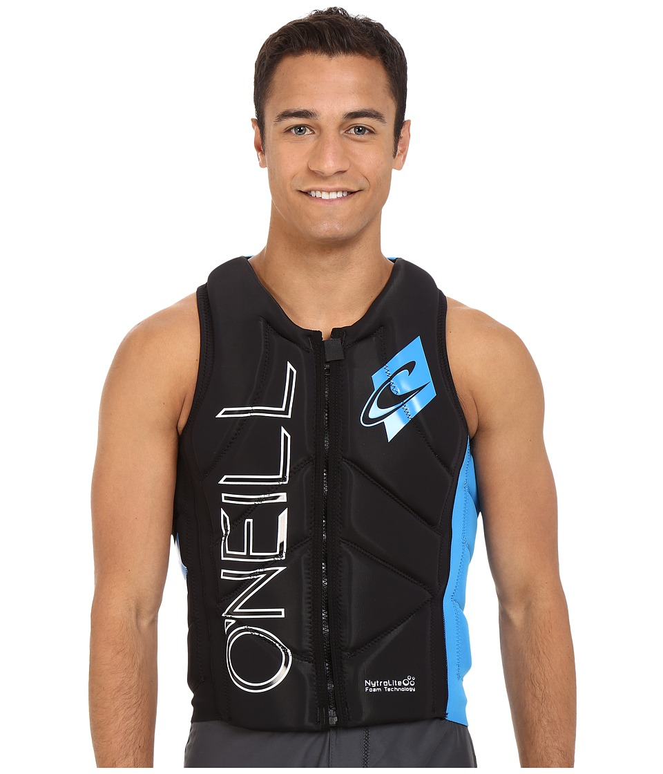 ONeill Slasher Comp Vest Black/Brite Blue Mens Swimwear