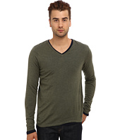 Scotch & Soda - Classic V-Neck Sweater with Long Sleeve Tee