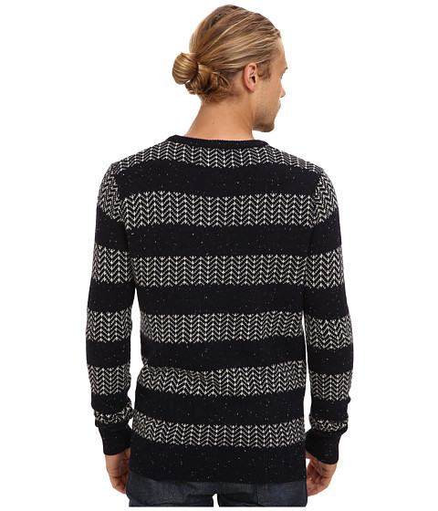 scotch soda crew neck rocker knit pullover. Black Bedroom Furniture Sets. Home Design Ideas