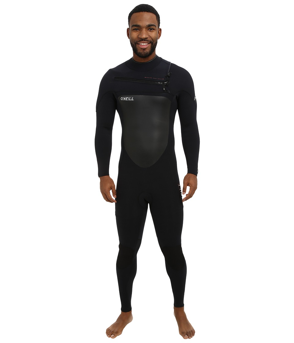 ONeill Superfreak Front Zip 4/3 Black/Black/Black Mens Wetsuits One Piece