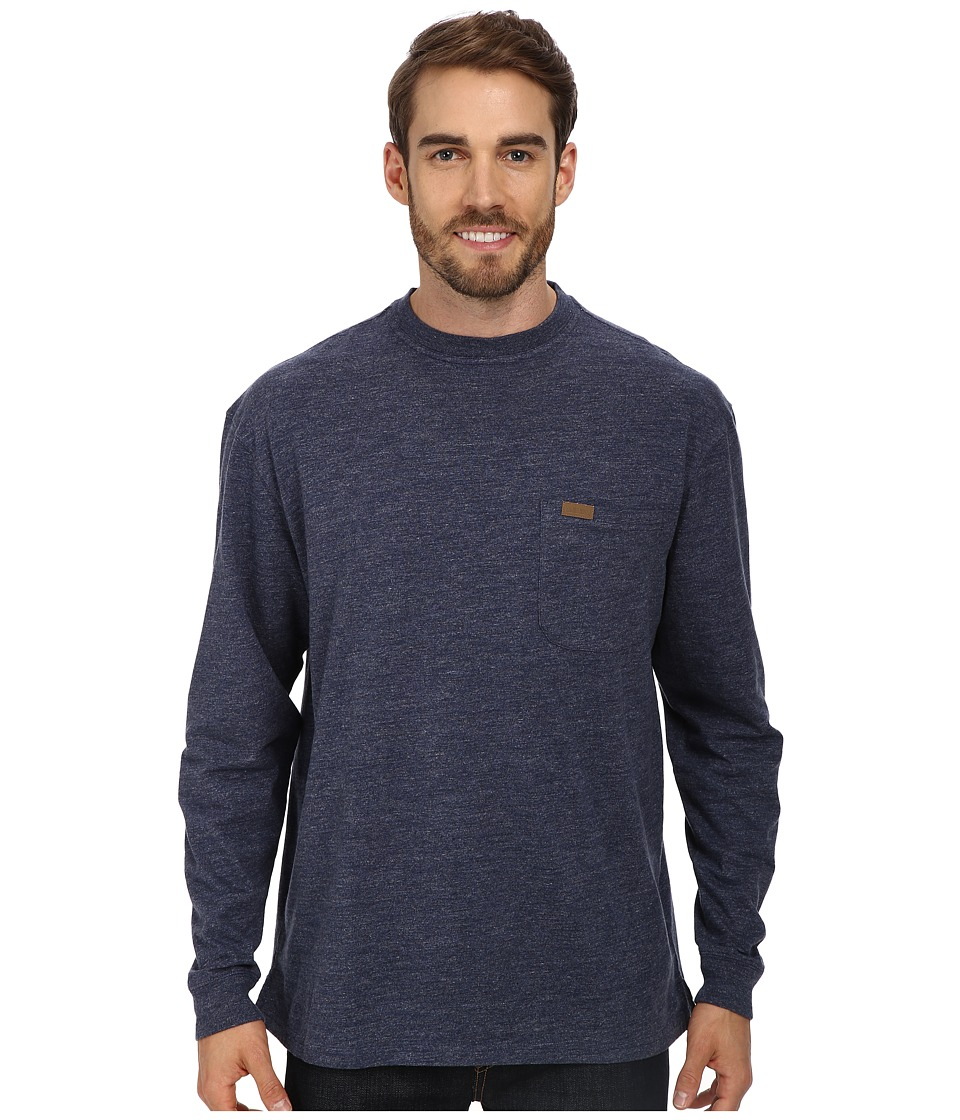 Pendleton - L/S Deschutes Tee (Denim Heather) Mens Long Sleeve Pullover