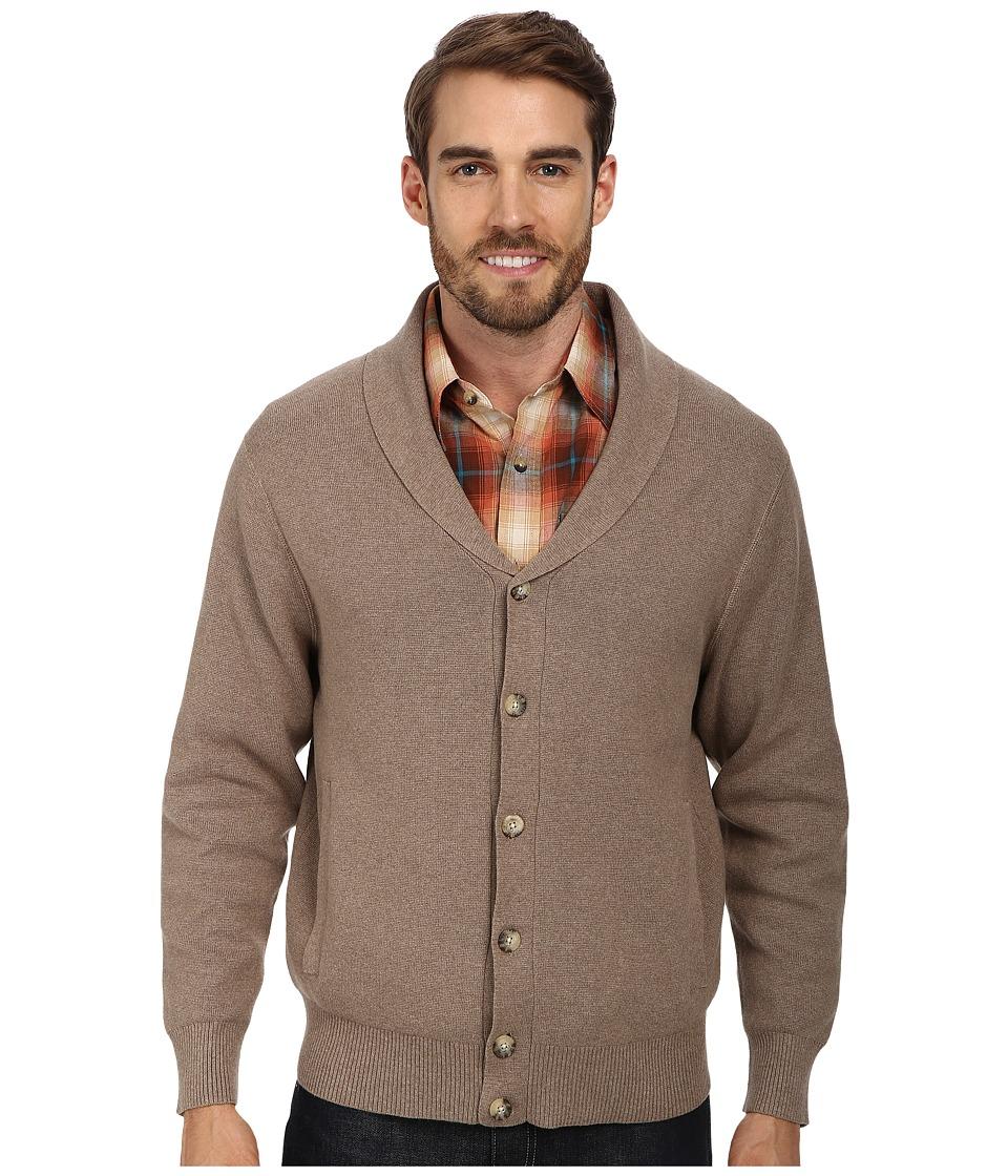 Pendleton - Dressy Knit Jacket Tan Mix Mens Sweater $129.00 AT vintagedancer.com