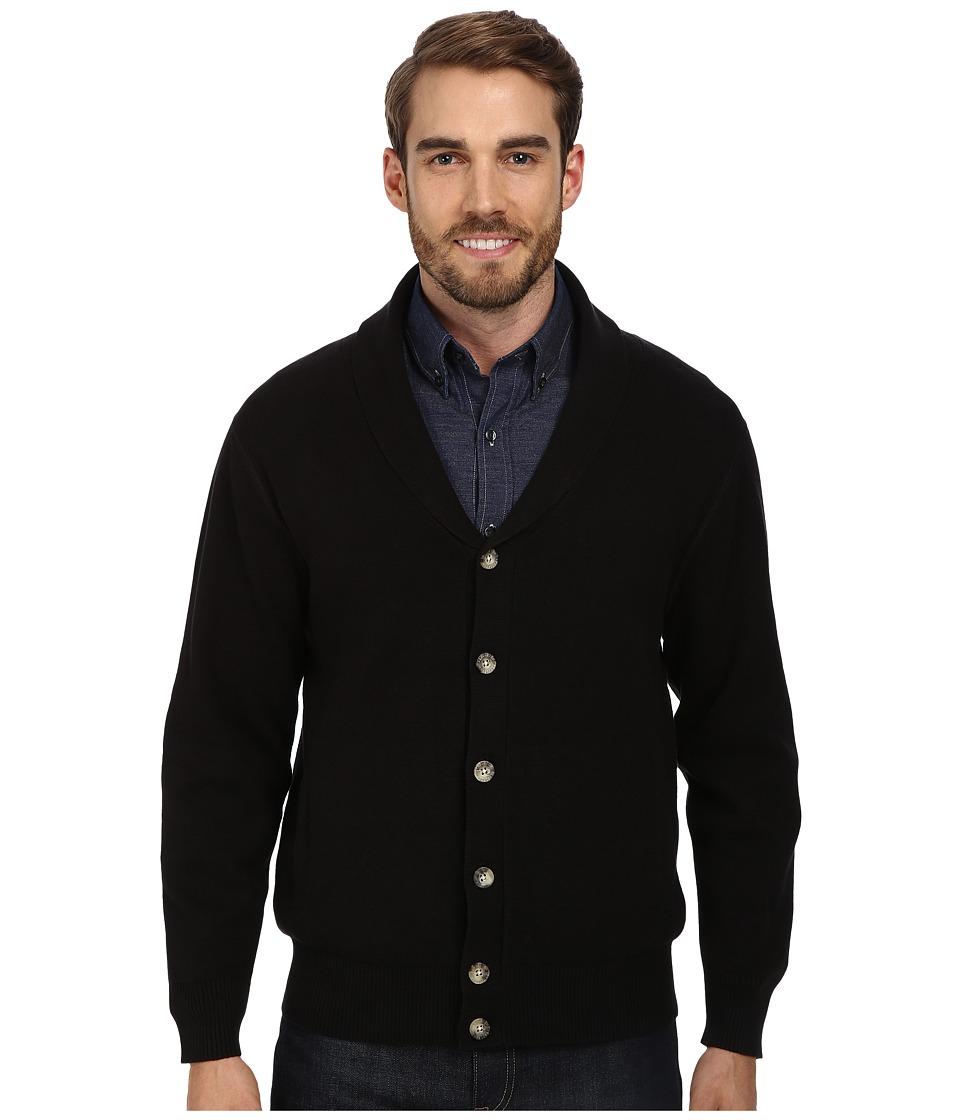 Pendleton - Dressy Knit Jacket Black Mens Sweater $129.00 AT vintagedancer.com