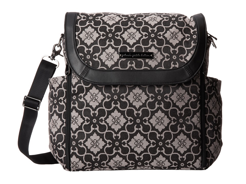 petunia pickle bottom - Jacquard Boxy Backpack (London Mist) Diaper Bags