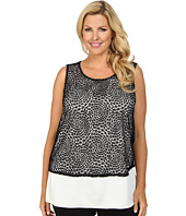 Calvin Klein Plus - Plus Size Sleeveless Open Lace Top