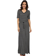 Marc New York by Andrew Marc - S/S V-Neck Stripe Maxi Dress MD4FM573