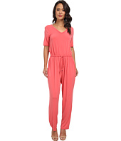 Marc New York by Andrew Marc - S/S V-Neck Blouson Peg Leg Jumpsuit MD4AM601