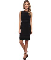Marc New York by Andrew Marc - S/L Mesh Yoke Shift Dress Stretch Crepe MD4AM564