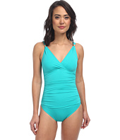 LAUREN Ralph Lauren - Laguna Solids Shirred Surplice U/W Mio One-Piece
