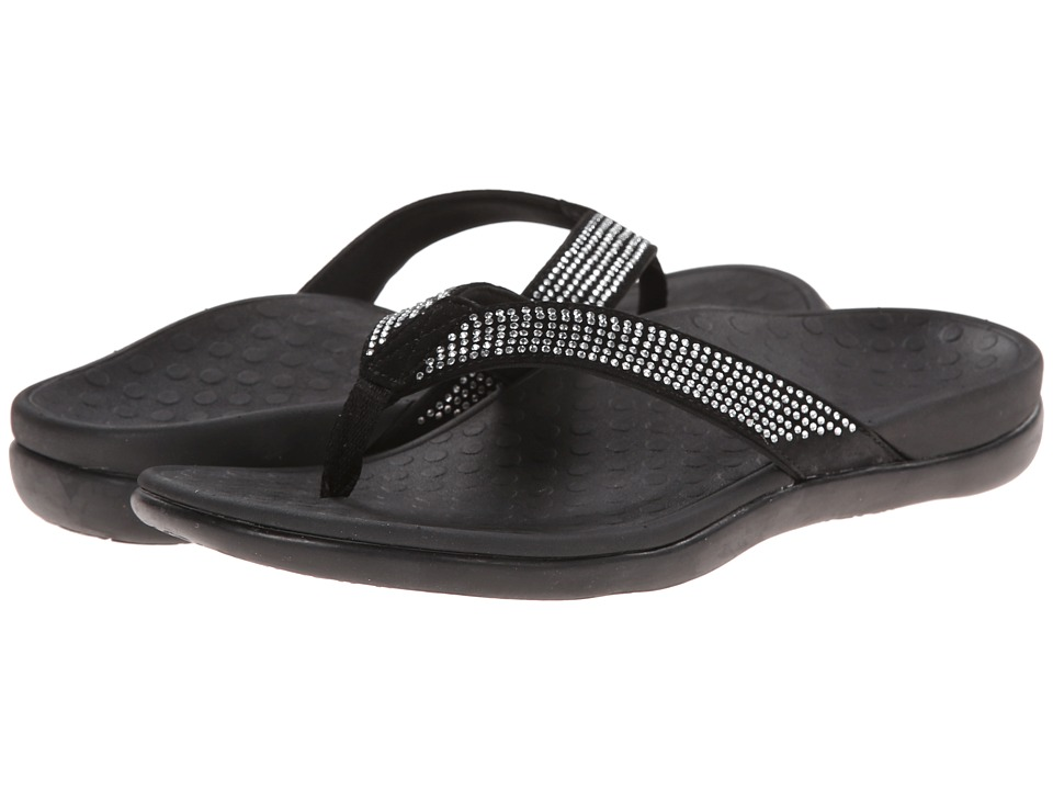 Vionic Tide Rhinestone (Black) Women's Sandals