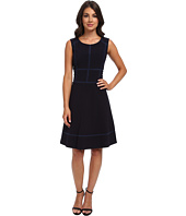 Marc New York by Andrew Marc - Sleeveless Mesh Insert Fit and Flair Dress MD4XK444