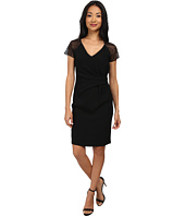 Marc New York by Andrew Marc - Lace Raglin Sleeve Side Drape Dress MD4RN519
