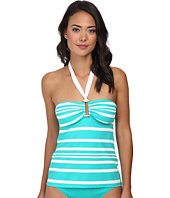 LAUREN by Ralph Lauren - Kaylee Stripe Ring Front Bandini w/ Removable Cup