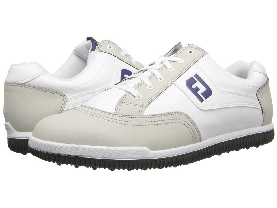 FootJoy GreenJoys White/Light Grey/Blue Mens Golf Shoes