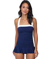 LAUREN Ralph Lauren - Bel Aire Shirred Bandeau Skirted Mio Slimming Fit One-Piece