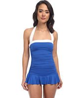 LAUREN by Ralph Lauren - Bel Aire Shirred Bandeau Skirted Mio Slimming Fit One-Piece
