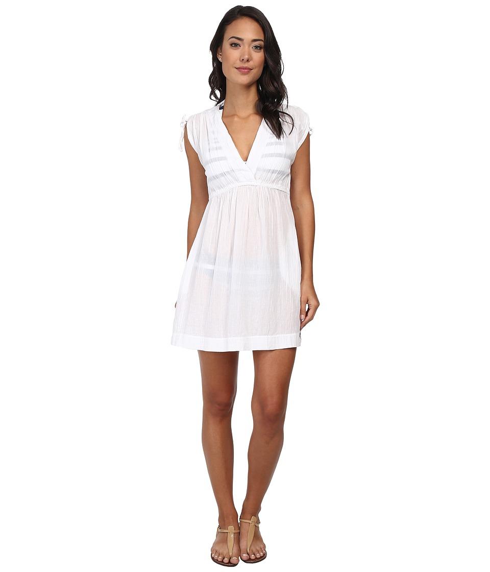 LAUREN Ralph Lauren Crushed Farrah Dress Cover Up White Womens Swimwear