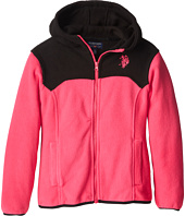 U.S. POLO ASSN. Kids - Light Weight Polar Fleece and Dewspo Hooded Jacket (Big Kids)