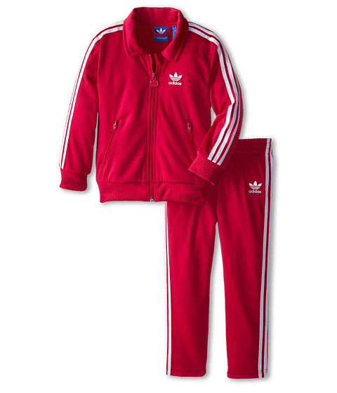 Red Adidas Firebird Track Suit for Toddlers