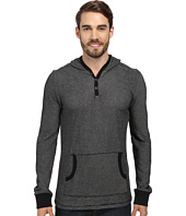Request - Joshus Henley Hoodie w/ Buttons/Overlock Stitches